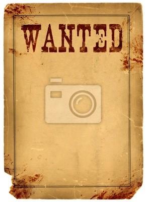 Stained krew Poszukiwane 1800 plakat Wild West