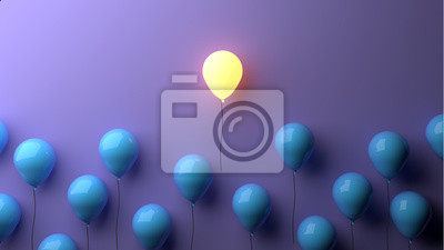 Obraz Stand out concept with glowing balloons
