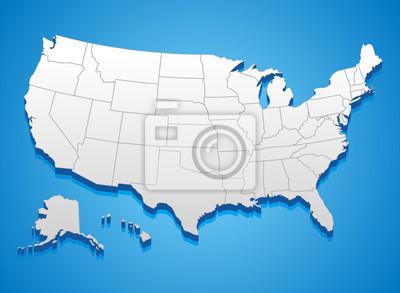 Obraz Stany Zjednoczone Ameryki Mapa