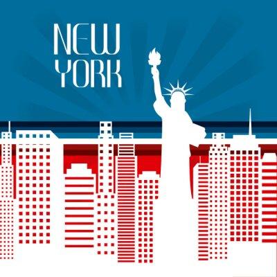 Obraz Stany Zjednoczone i Nowym Jorku projekt