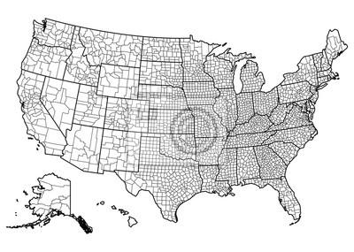 Obraz Stany Zjednoczone mapie
