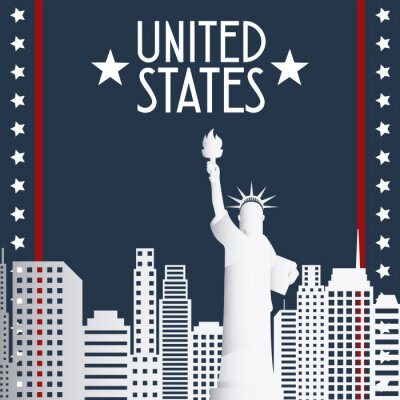 Obraz Stany Zjednoczone projekt