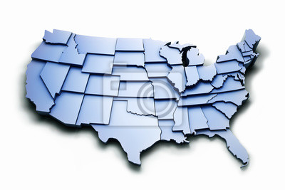 Obraz Stany Zjednoczone ze ścieżką pracy