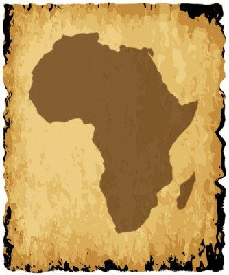 Obraz Stara mapa Afryki