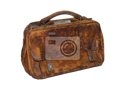 stara torba lekarza, skórzane torby, torba położnych