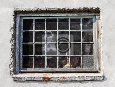 Stare drewniane okna ściana grungy stonowanych pastelowych.