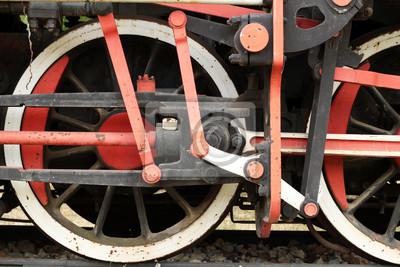 stare koła lokomotywy parowe