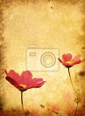 Stare kwiat papieru tekstury - z miejsca dla tekstu lub obrazu