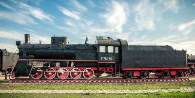 Obraz stare lokomotywy parowe z 20 wieku