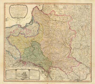 Obraz stare mapy