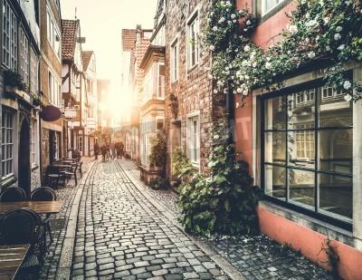 Obraz Stare miasto w Europie, na zachodzie z stylu retro vintage efekt filtra