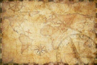 Obraz stare morskie skarb mapa tła