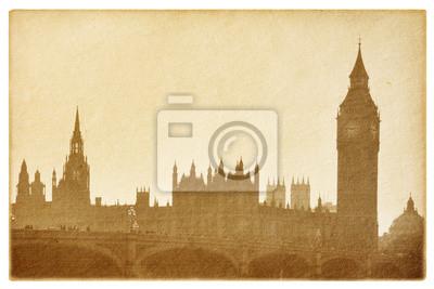 Stare papieru samodzielnie nabiały. Budynki Parlamentu.