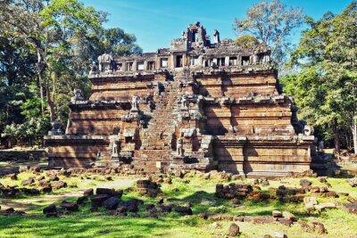 Obraz Starożytna buddyjska świątynia Khmerów w Angkor Wat złożonych