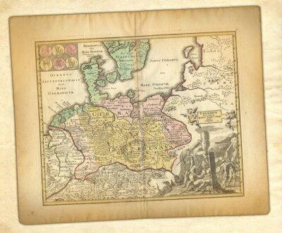 Obraz Starożytna mapa.