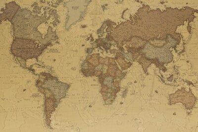 Obraz Starożytna mapa świata