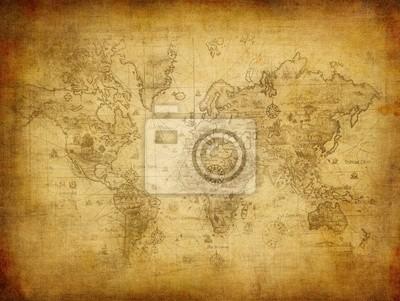Starożytna mapa świata.