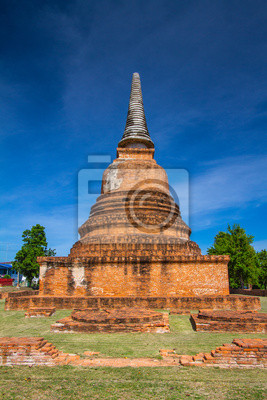 Starożytna pagoda Ayuttaya, Tajlandii. Ponad 300 lat.