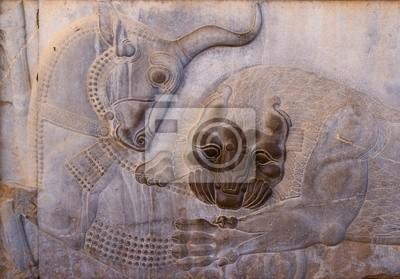 Starożytne płaskorzeźby z Persepolis, Iran