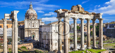 Starożytne ruiny Rzymu - Imperial Forum - Włochy