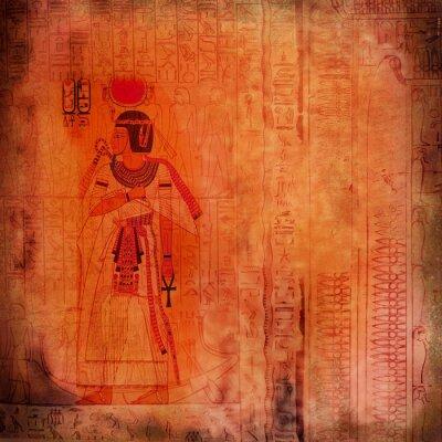 Obraz starożytny Egipt pomarańczowy backround z faraoh