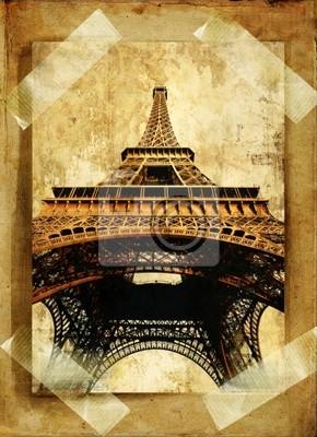 stary album fotograficzny - Paryż
