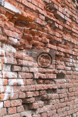 Stary czerwony mur ceglany