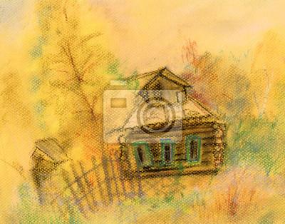 Obraz Stary dom we wrześniu