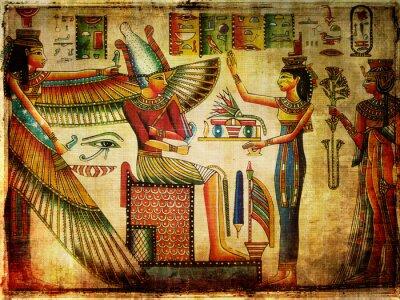 Obraz stary egipski papirus
