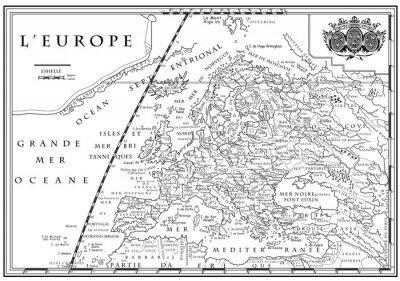 Obraz Stary Europejska mapa