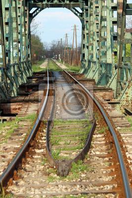 stary most kolejowy i transportowy tle