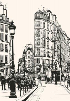 Obraz stary Paryż w pobliżu Saint Denis