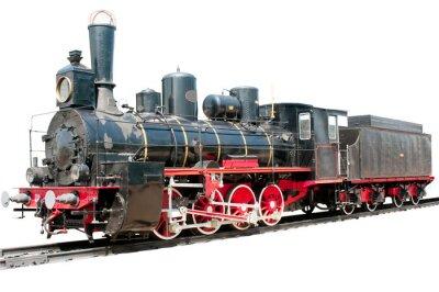 Obraz Stary pociąg na białym