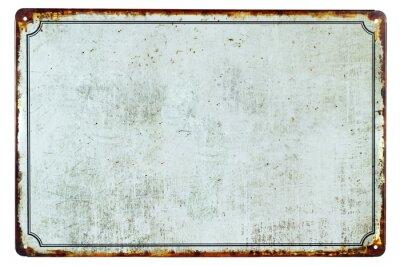 Obraz Stary pusty zardzewiały metalowy znak z tłem kopii przestrzeni dla tekstu