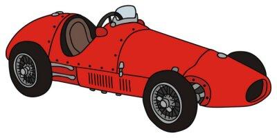 Obraz stary samochód wyścigowy