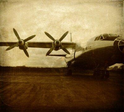 Obraz Stary samolot cargo w stylu grunge