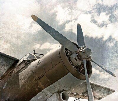 Obraz Stary samolot, scracthed powierzchni