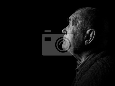 Obraz stary senior modląc