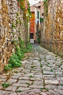 Obraz Stary uliczka w Toskanii
