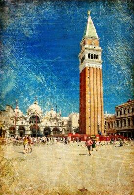 Obraz stary Venice-artystyczne zdjęcie w stylu retro