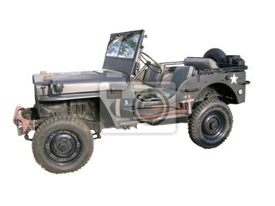 Stary wojskowy jeep