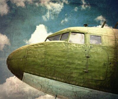 Obraz Stary wojskowy samolot z bliska
