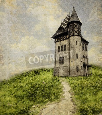 Obraz Stary Zamek. Teksturowane nakładki dodał.