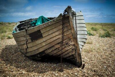 Obraz Starych łodzi rybackich.