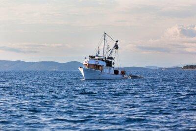 Obraz Starych łodzi rybackich w Adriatyku