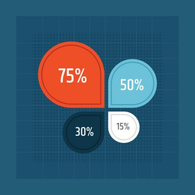 Statistical pie chart / pie chart flat icon for apps and websites