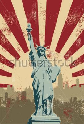Obraz Statue of Liberty, New York City, vector