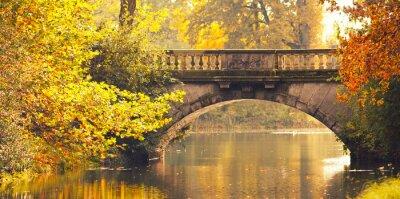 Obraz Steinerne Brücke im Herbst