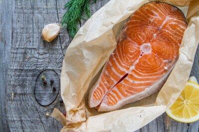 Obraz Stek z łososia, składniki