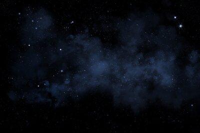 Obraz Sternenhimmel mit blauem Nebel